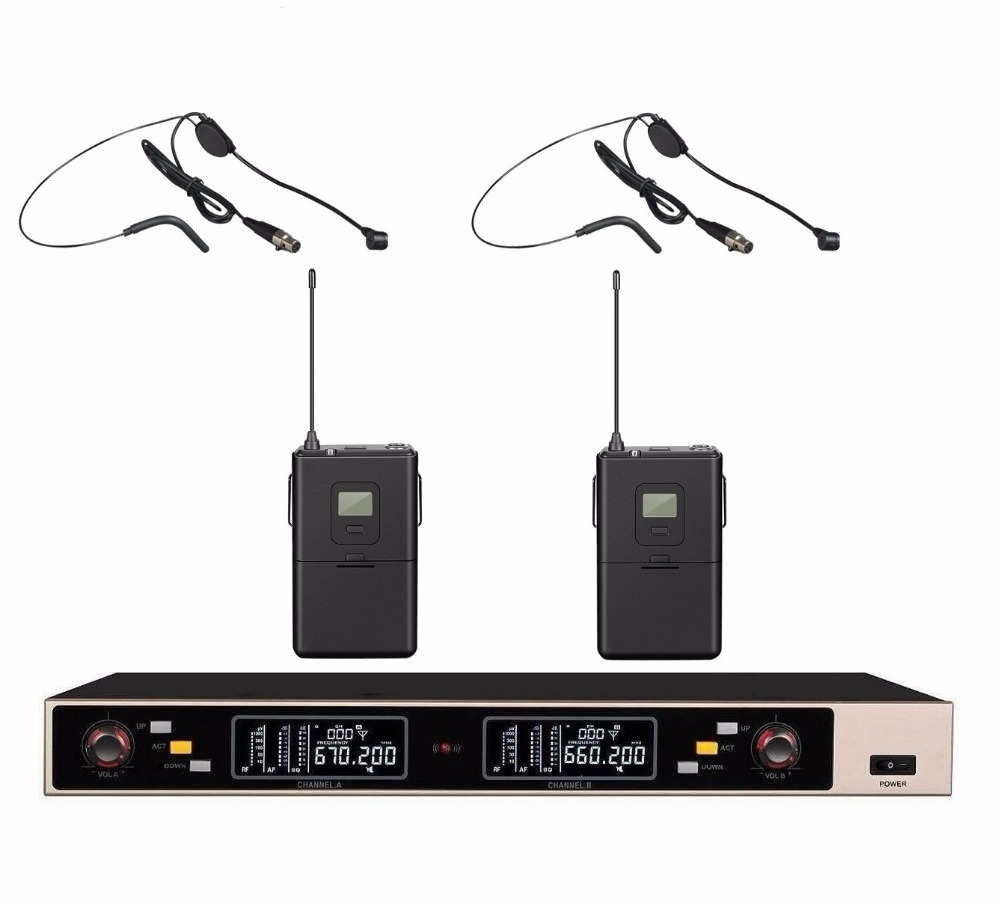 Wireless Microphone System For Teachers : 2017 new professional uhf wireless headset microphone system w auto mute for teachers in ~ Russianpoet.info Haus und Dekorationen