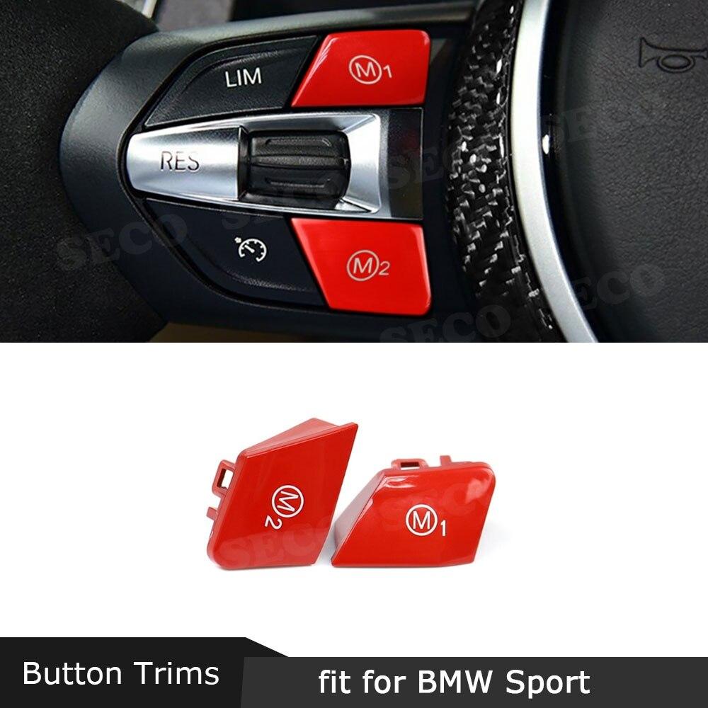 سيارة الرياضة عجلة القيادة M1 M2 التبديل استبدال زر يغطي لسيارات BMW M3 M4 M5 M6 X5M X6M F80 F82 F83 F10 F06 F15 F16 اكسسوارات