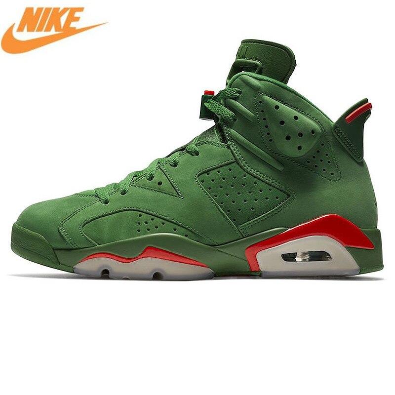 Nike Air Jordan 6 Gatorade AJ6 Gatorade зеленые замшевые Для мужчин Мужская Баскетбольная обувь, Открытый исходный удобные кроссовки AJ5986 335