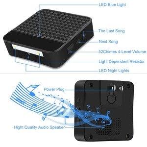 Image 4 - Forecumソーラー防水ワイヤレスドアベルバッテリなしeu米国英国プラグスマートドアのベルチャイム1ボタン1受信機ledライト