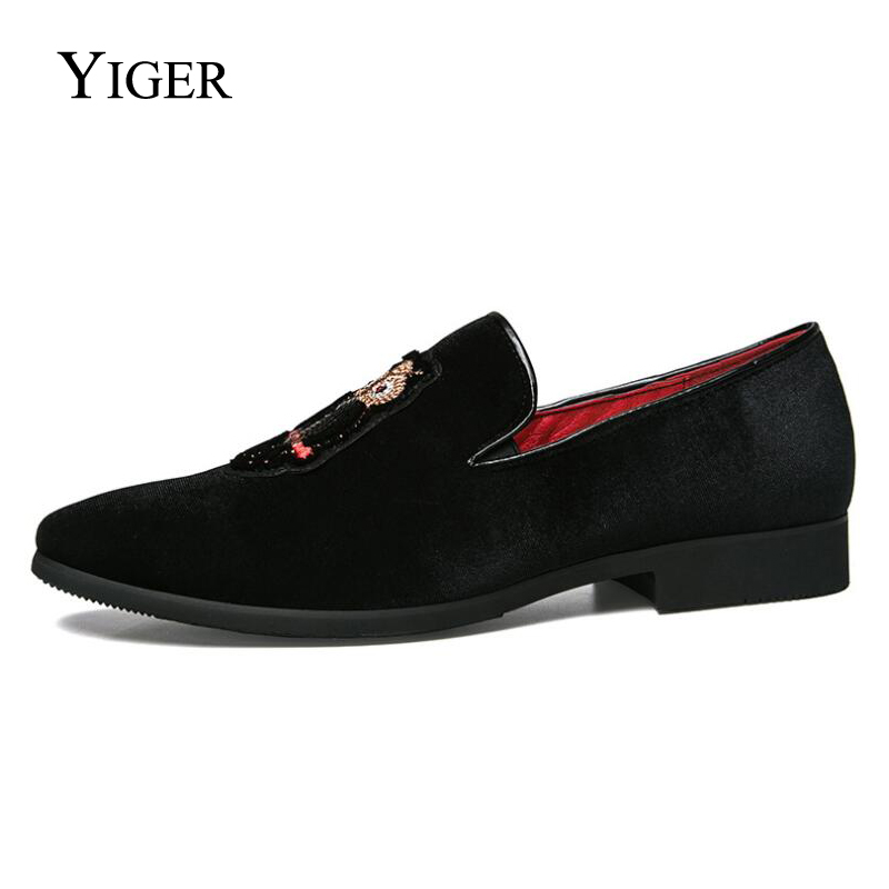 YIGER New Man Loafers Slip-on Tip Toe Peas Shoes Men Casual Cotton - Men's Shoes - Photo 3