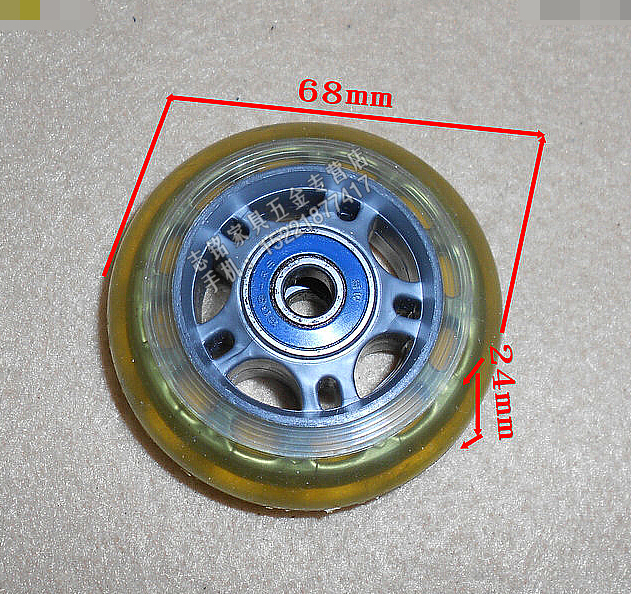 3- inch double bearing skate shoes roller wheel transparent PU luggage wheel --Diameter:68mm skate 3 [japan import]