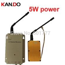 5W 1.2G CCTV transmitter av transmitter 1.2G FPV transceiver Video Audio Transmitter Receiver drone camera transmitter