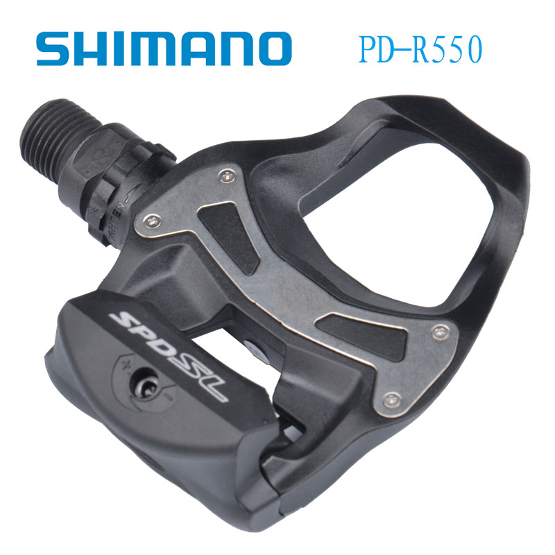 Shimano R550 SPD-SL Clipless Road Pedals Bike Road Self-Locking Pedal 2018 r550