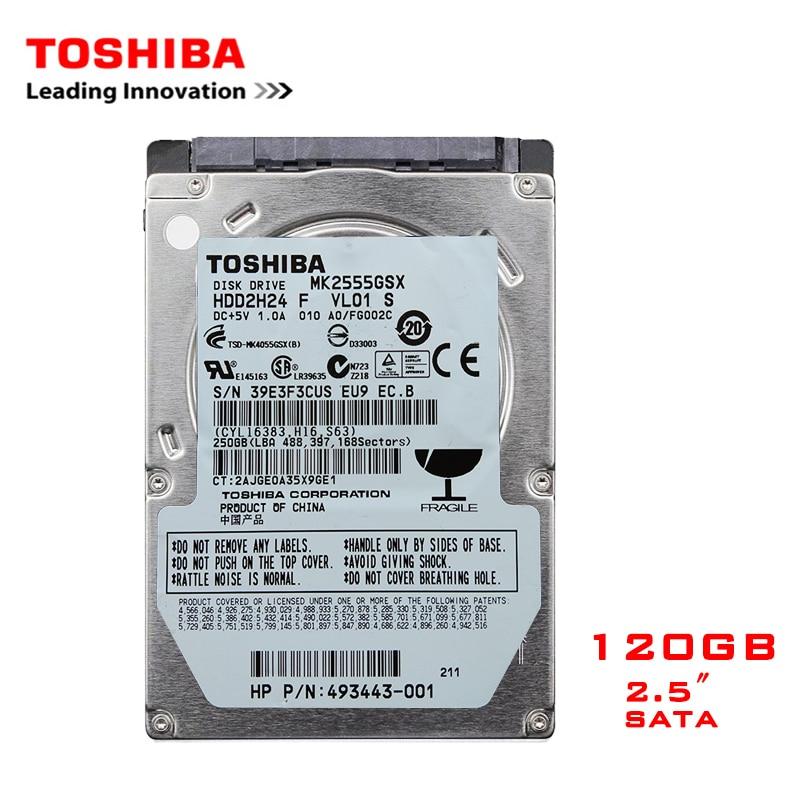 "TOSHIBA Brand 120GB 2.5"" SATA Laptop Notebook Internal HDD Hard Disk Drive 120G 100MB/s 2/8mb 5400-7200RPM disco duro interno"