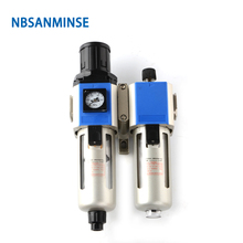 NBSANMINSE  Two Units Filter Regulator GFC 200 1/8 1/4 3/8 1/2 FRL Air Compressor Filter Regulator Air Preparation Units все цены