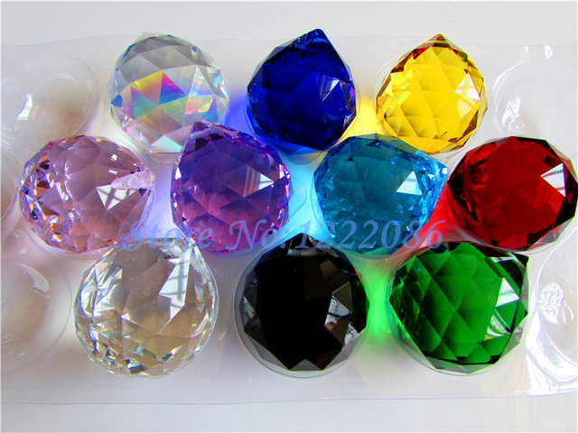 Wholesale Pcs Mm Chandelier Crystal Faceted Ball Mixed Color - Plastic chandelier crystals wholesale