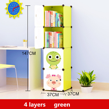 1 Se Cartoon Silicone Bookcase Resin Toys Storage Cabinets Organizer Storage Box Chest of Drawers for Toys Kids Closet Cabinet