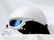 Мэри дети MASEI мотоциклетный шлем электрический автомобиль 429 двойной скелет вокруг половина шлем 2014 издание белый