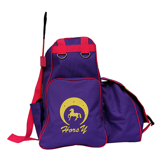 Purple color sport boots bag equestrian horse riding supplies bag helmet/riding boots bag horse riding equipment bag