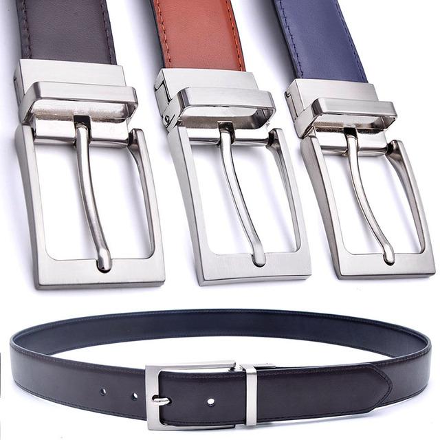Cinturón de cuero formal Reversible