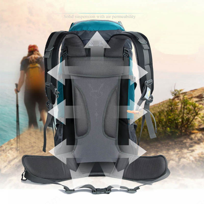 85L Waterproof Outdoor Hiking Backpacks Men Nylon Sports Bag Backpack Camping Travel Climbing  Mountaineering Rucksack Male-in Climbing Bags from Sports & Entertainment    3