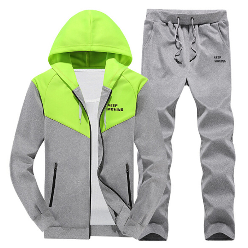 2017 New Brand Tracksuit Men Hoodie Sportswear Active Casual Sweatshirts Man Tracksuits With Pants Plus Size M-4XL