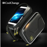 CoolChange Waterproof Touch Screen Bicycle Bag Frame Front Top Bike Bag Double Pouch Cycling Bag 6