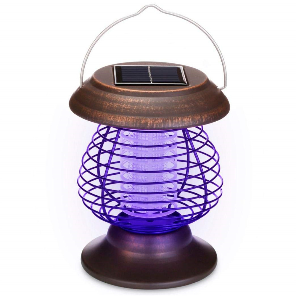 Solar Powered Outdoor Mosquito Killer Lamp Portable Repellent Bug Insect Killer Trap 2 in 1 Camping Travelling Garden light цена