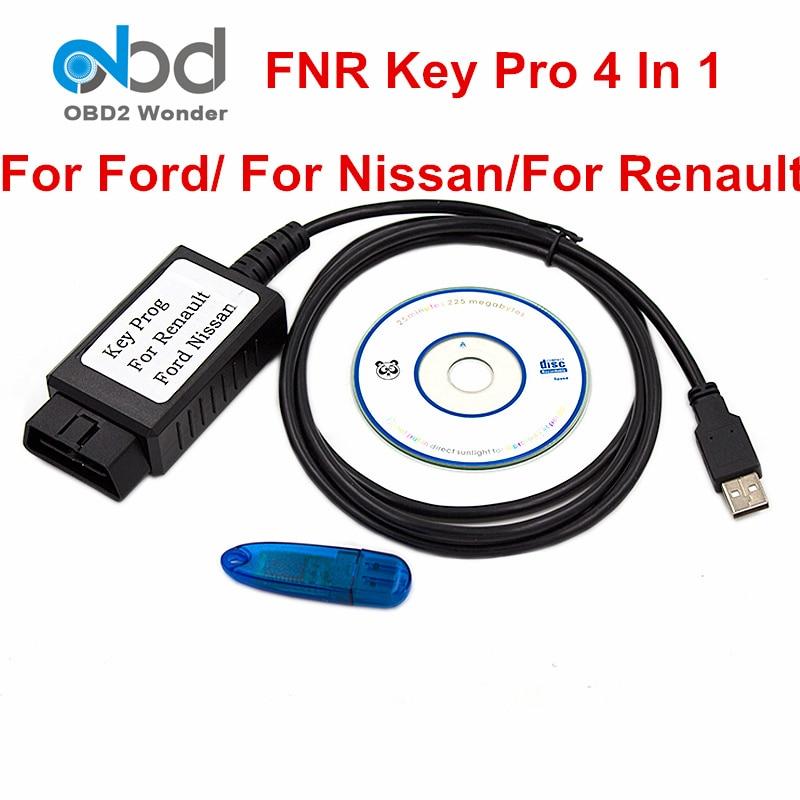 Prix pour Meilleur Prix FNR 4 EN 1 Pour Nissan Programmeur principal Pour Ford Auto Key Maker Pour Renault OBD2 Auto Key Transpondeur Ajouter Incode Service