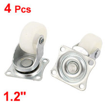 uxcell 4Pcs Chair Furniture Trolley 30mm PP Wheel Swivel Top Plate Caster for Trolleys,Furniture,Rack, etc.  Hot Sale
