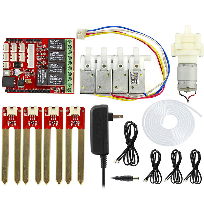 Elecrow Automatic Smart Watering Kit For Arduino Electronic DIY Plant Watering Kit Pump Soil Moisture Sensors