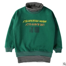 Children's Hoody Boys T-shirt 2017 New Winter and Autumn Children Long Sleeve Letter Fashion Leisure three Colors Size4-14 ly112