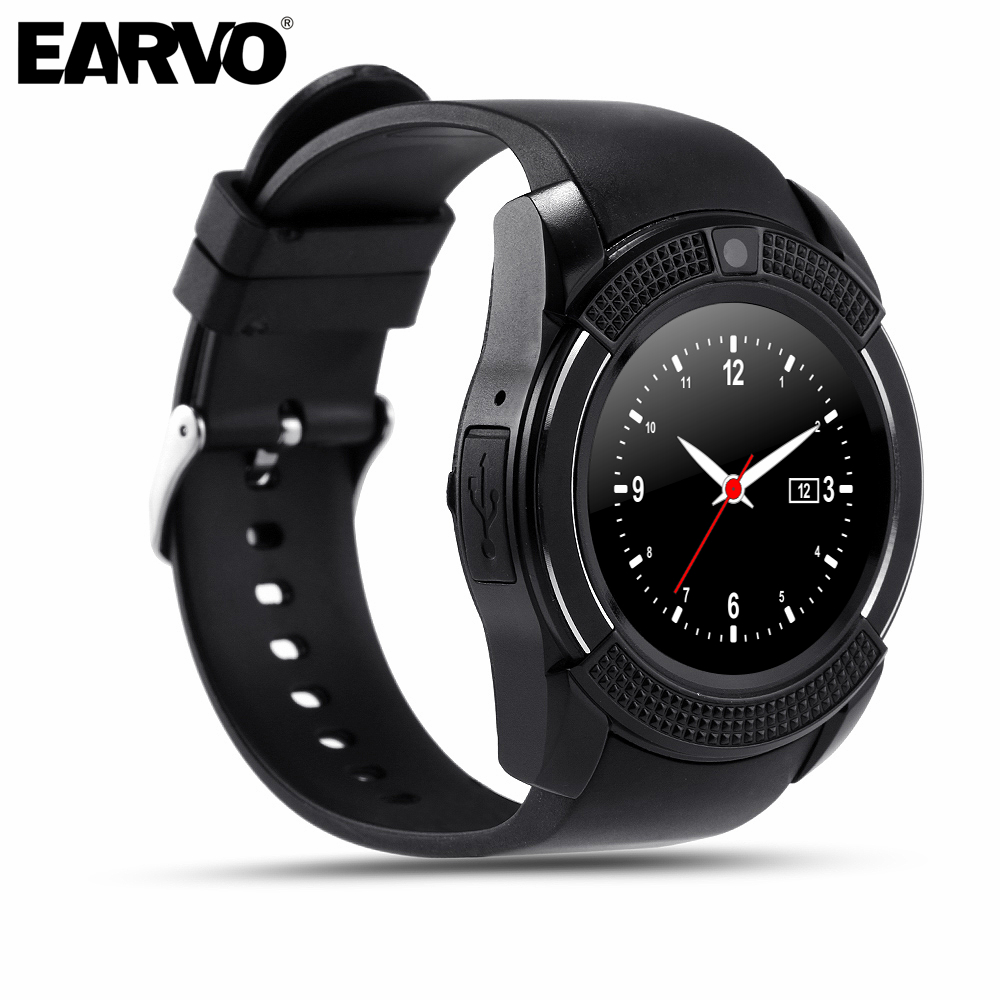 Original V8 Sport PodemeterHealth Watch Full Screen Smart Watch for Android iOS Phone Support SIM TF