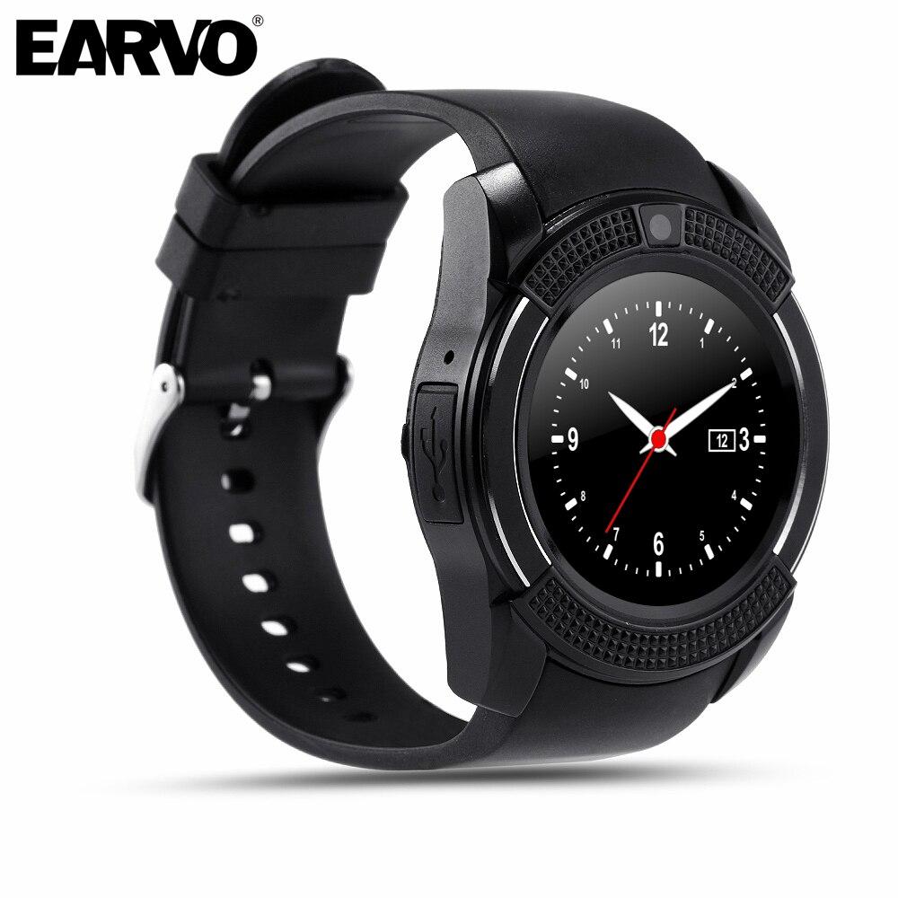 Original v8 sport podemeterhealth ver pantalla completa smart watch para android