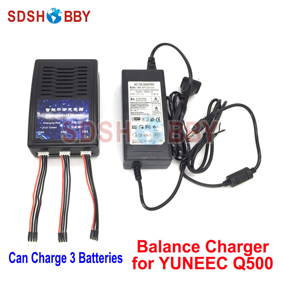 Q500 4K Charger 3 in 1 Battery Balance Charger Parallel Charging Adapter for YUNEEC Q500 RC Quadcopter yuneec q500 battery parallel charging board compatible with imax b6 charger adapter