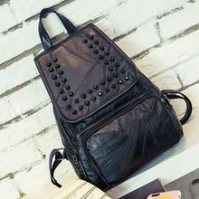 Рюкзак женщин верхняя одежда мода рюкзак Дамские туфли из PU искусственной кожи мешок маленькие женщины рюкзак Mochila Feminina школьные сумки для подростков ME708