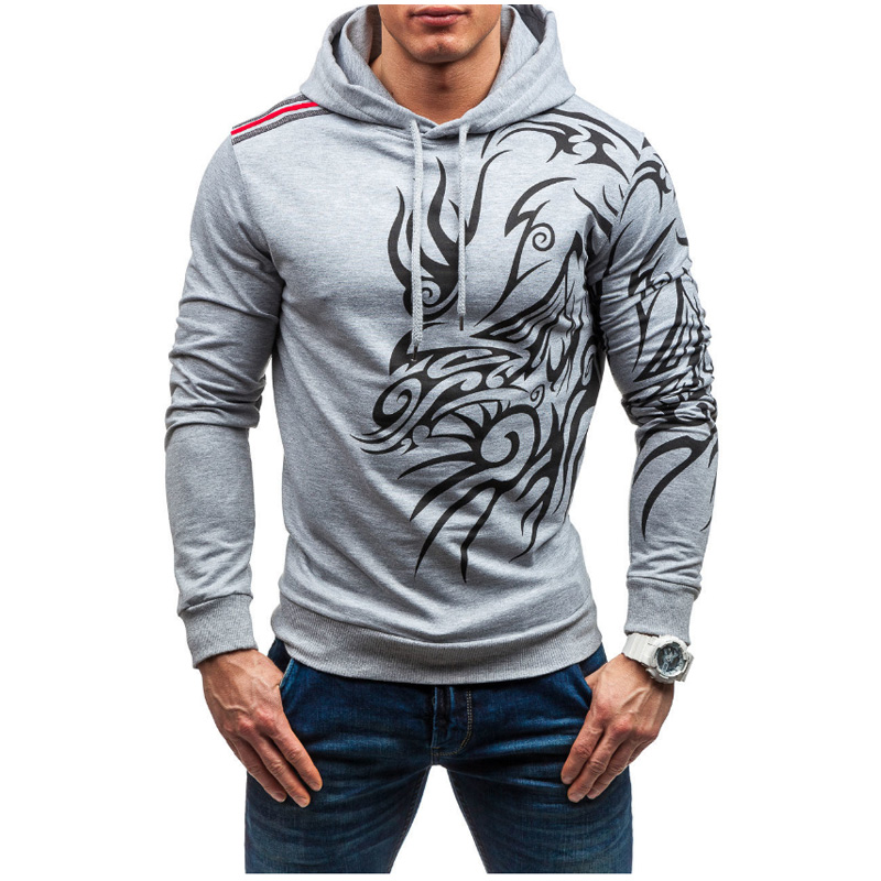 Hoodies & Sweatshirts Buy Cheap Brand 2017 Hoodie Casual Dragon Printing Hoodies Men Fashion Tracksuit Male Sweatshirt Hoody Mens Purpose Tour Size Xxxl