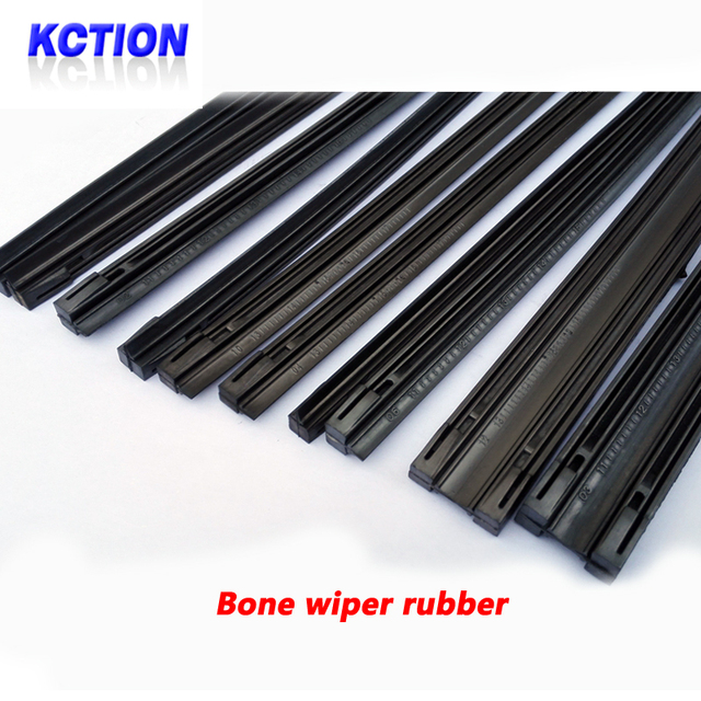 """KCTION Diy car wiper blade,Strips wiper blades,Windscreen bone wipers rubber,bone Rubber,Size14""""16""""17""""18""""19""""20""""21""""22""""24""""26""""28"""""""