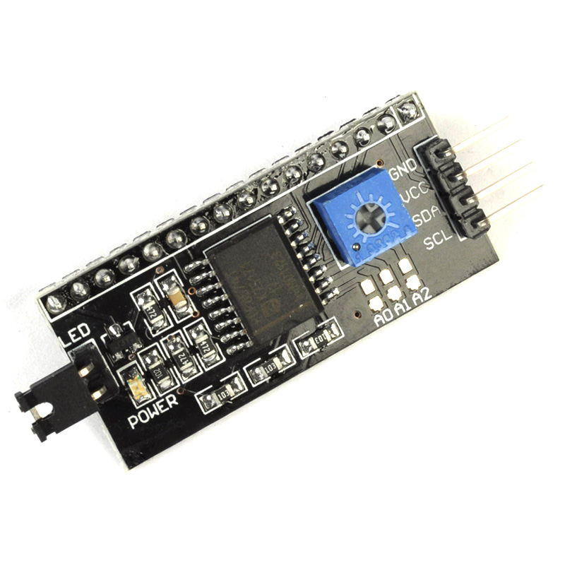 LCD1602 Converter Board IIC/I2C/TWI/SPI Serial Interface Module for 1602 LCD Display for Arduino IIC I2C Serial Port