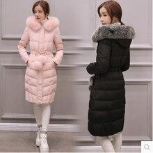 Дамы зимой пуховик 20-25-30 лет Корейской версии большой размер пальто пальто утолщение воротник утолщение куртка