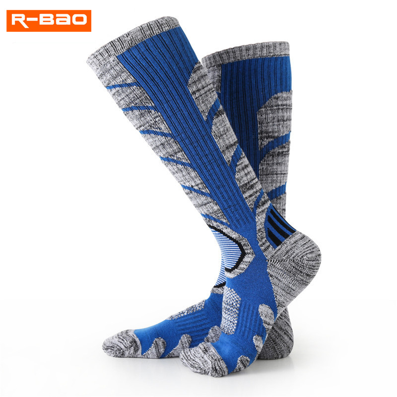 R-BAO Professional Ski Scoks Men 2018 New Outdoor Climbing Sports Thicken Cotton Breathable Keep Warm Women Running Sport Sock