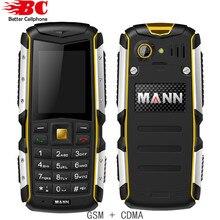 Новый Оригинальный MANN ZUG S Пыле Противоударный Водонепроницаемый Dual SIm GSM GPRS Сети 2.0 дюймов Russion клавиатура Старший Мобильного Телефона