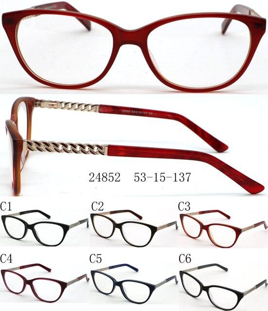 7ef957acf25e 2017 New Cat Eye Woman Acetate Glasses Frame with Metal Tips Half Optical  Eyeglass Frame Oculos De Grau 10pcs lot wholesale