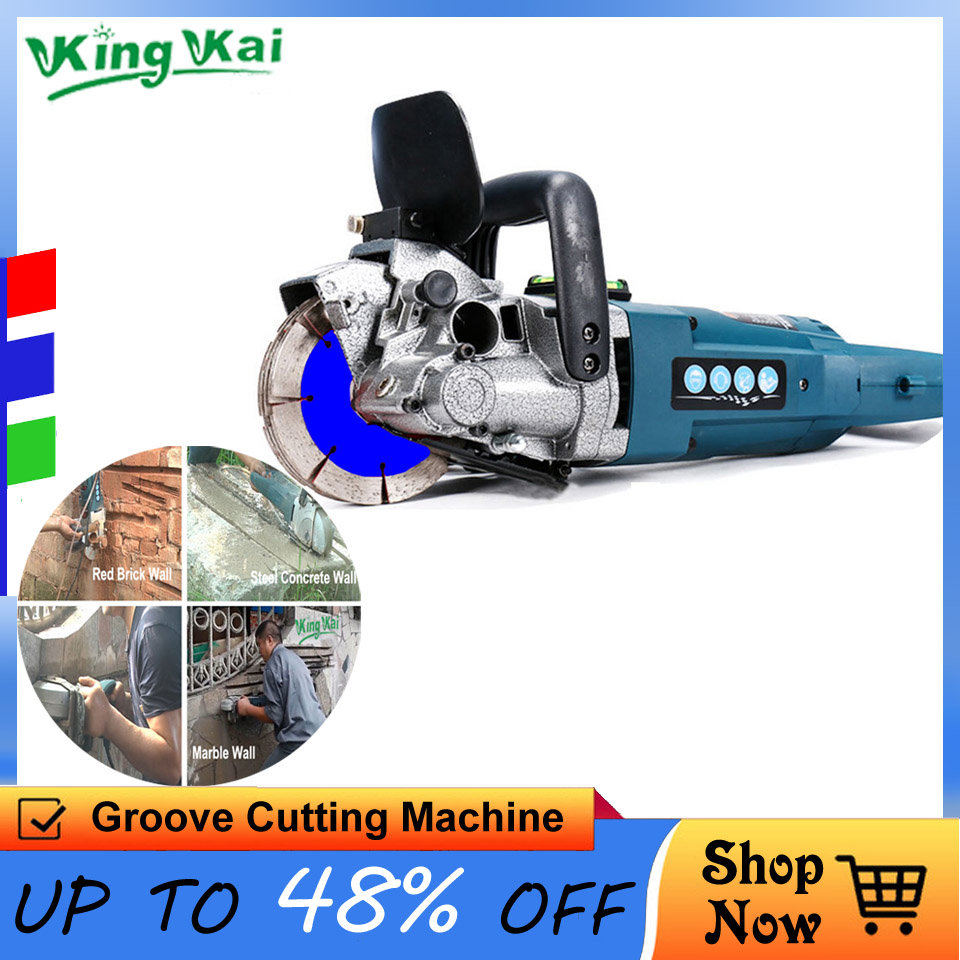 121mm Blade CW6121 4800W Multifunction Wall Stone Road Groove Cutting Chasing Machine Tool Set