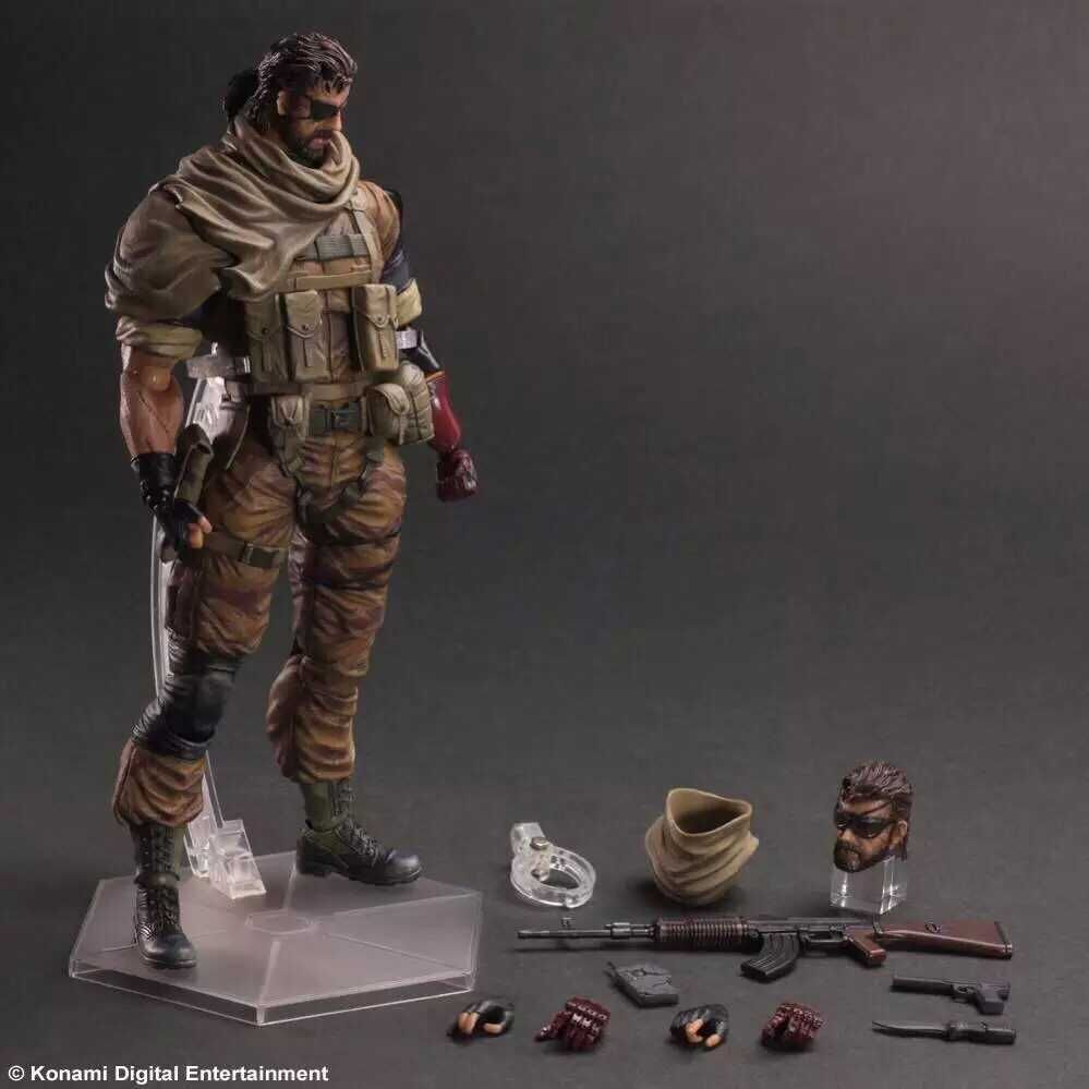 METAL GEAR SOLID Action Figures Playarts Kai Snake PVC 280mm Collectible Model Toy Anime METAL GEAR SOLID 2 Play Arts Kai metal gear solid action figure sons of liberty figma 298 soldier pvc toy 16cm anime games figures snake collectible model doll