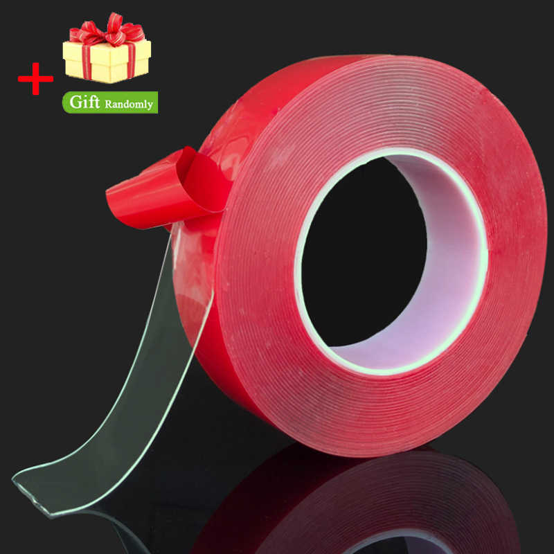 3000mm Transparent Silicone Double Sided Tape Sticker For Car High Strength High Strength No Traces Adhesive Sticker Car Styling