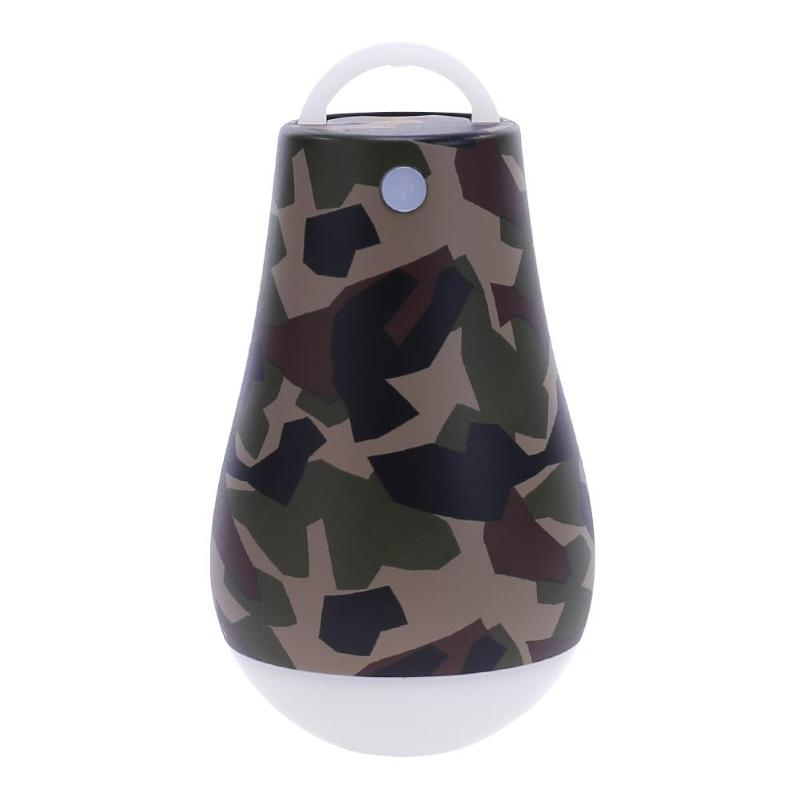 Portable Camouflage Shell DC 5V USB LED Outdoor Camping Light Power Bank for Mobile Phone Camping Emergency Lantern Light