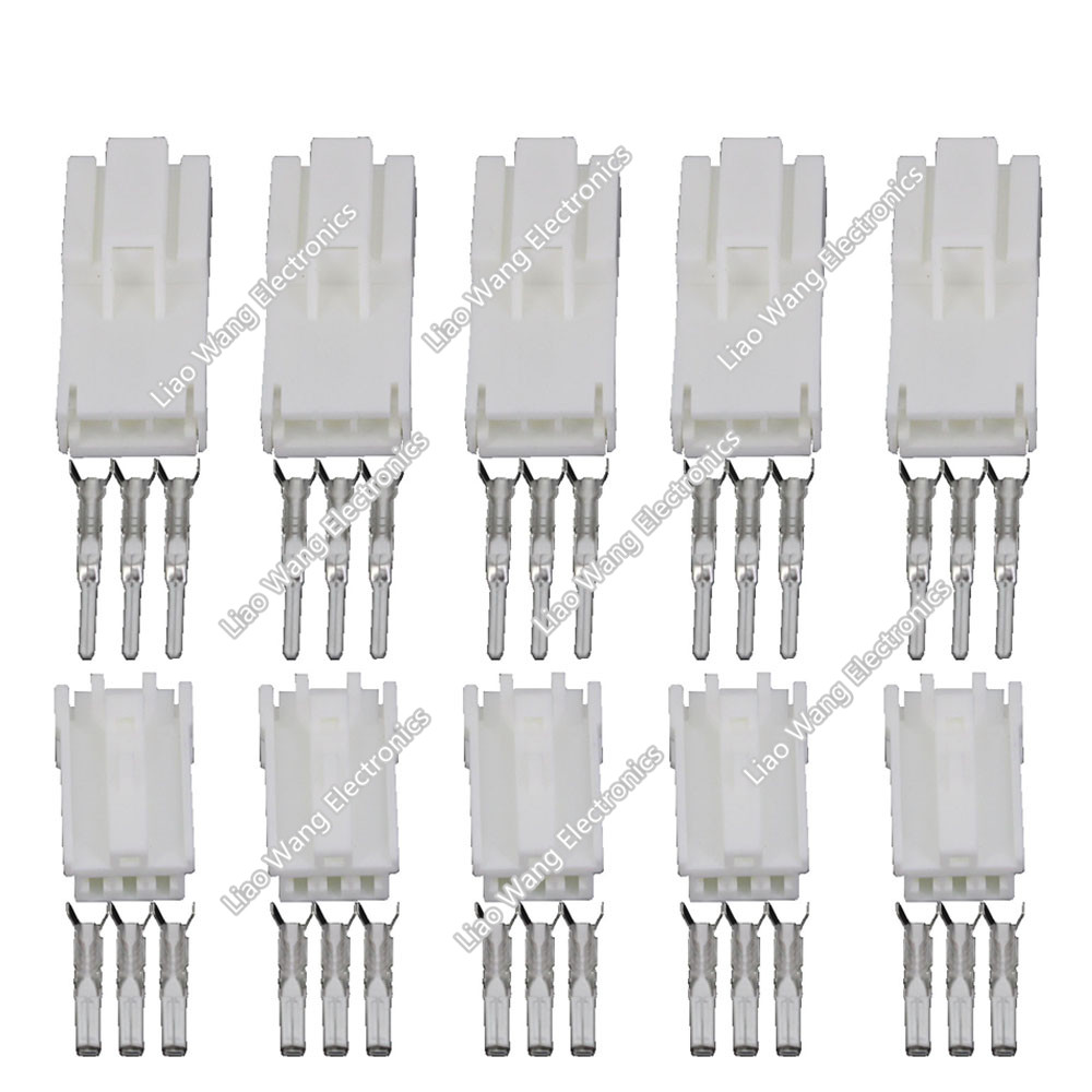 ̀ •́ 5 PCS wire male connector White female cable connector terminal ...