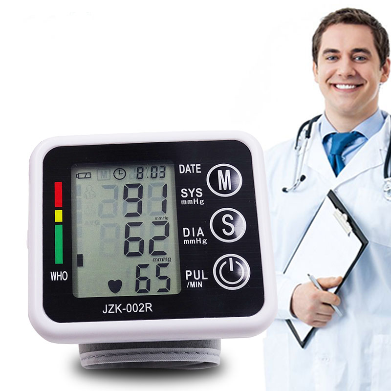 Wrist Blood Pressure Pulse Monitor Health Sphygmomanometer Pressure Measuring Monitors Digital Upper Blood Pressure Equipment portable wrist blood pressure pulse monitor digital upper blood pressure monitor meters sphygmomanometer health care monitors