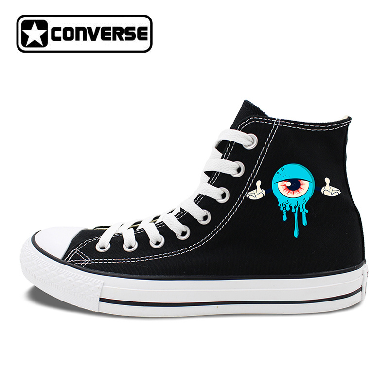 Women Skateboarding Shoes Canvsa Flats Original Design Blue Eyesballs Converse Chucks Sneakers Brand Men Upper Plimsolls