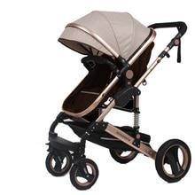 Wisesonle детская коляска 2 в 1 коляска ложится или демпфирующая Складная Лампа Вес двухсторонний высокий пейзаж коляски для малышей