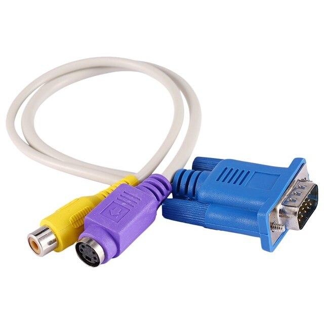 VBESTLIFE портативный ПК ноутбук VGA SVGA к S-Video RCA переходники композитный HD AudioAV ТВ выход конвертер адаптер видео кабель