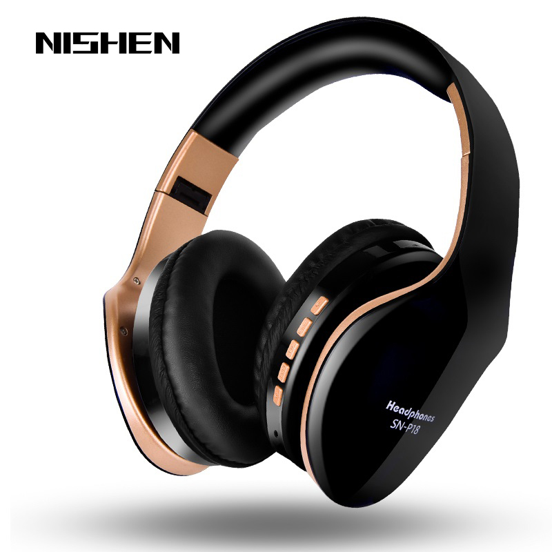 Headphones Noise Sound Stereo-Bass Foldable Cancelling Wireless Bluetooth with Mic
