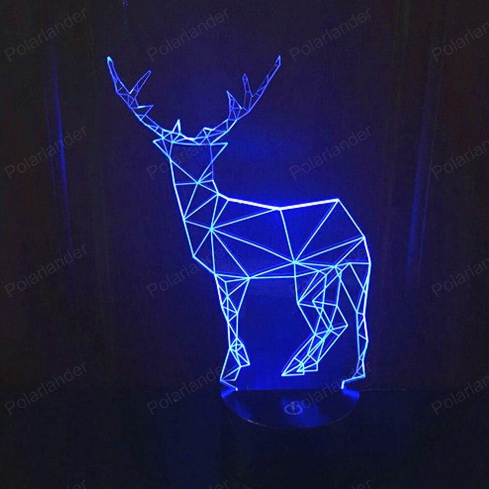 Deer 2 USB font b Night b font Light 3D Illusion Touch font b Led b