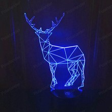 Deer 2 USB Night Light 3D Illusion Touch Led 7 Colors Atmosphere Mood Table Lamp for Kids
