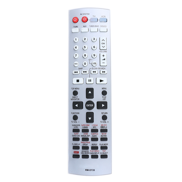 Replacement Dvd Remote Control For Panasonic Eur7722x10 Home Theater Smart
