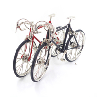 New 1 10 Scale Alloy Bicycle Dollhouse Miniatures Furniture Garden Decor Doll House Decoration Dolls Accessories