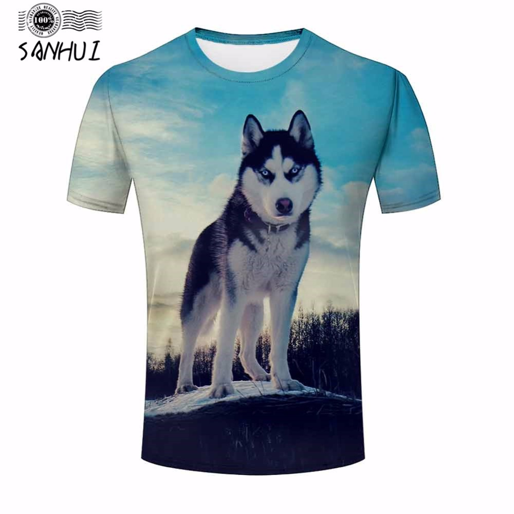 Design your own t-shirt for dogs - 2017 Fashion Men S Dog 3d Printed O Neck Hip Hop T Shirt S M