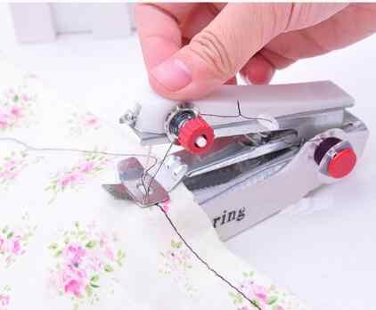 Mini máquina portátil de costura Manual, herramientas de costura de operación Simple, tela de costura, práctica herramienta de costura LYQ 1 unidad